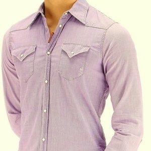 DSQUARED2 Men's VINTAGE Chambray WESTERN Shirt